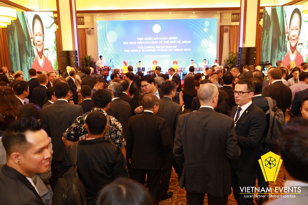 Welcoming reception of World Economic Forum on ASEAN 2018