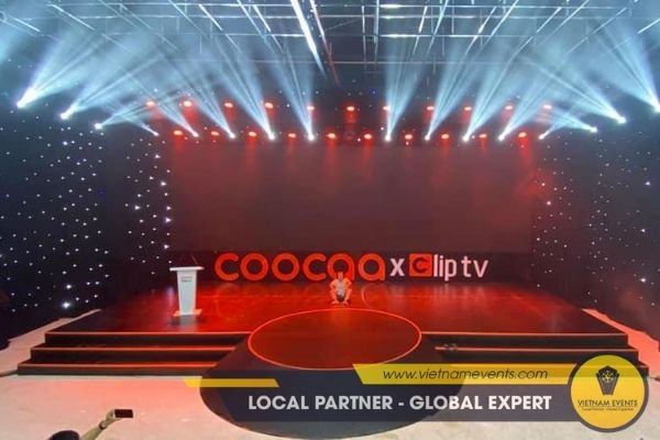 stage for product launch