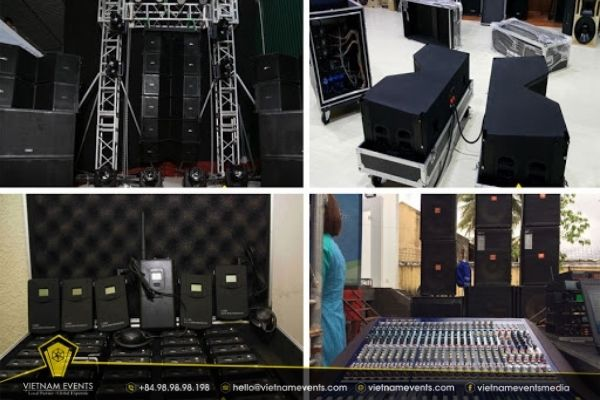 Event organization process and facilities, equipment
