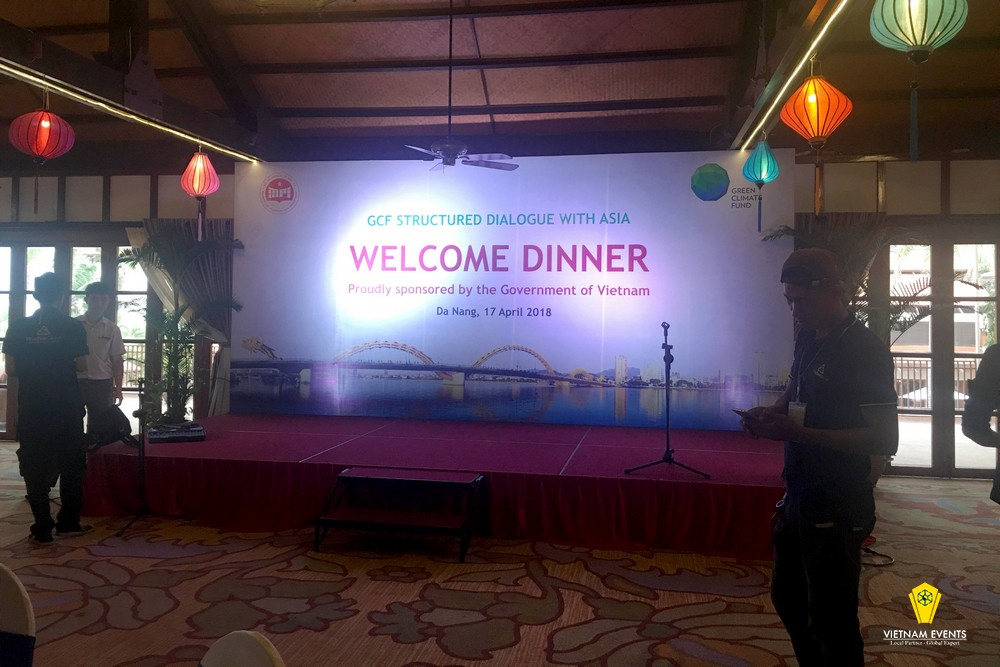 gala dinner for GCF STRUCTURED DIALOGUE WITH ASIA on the evening of April 17, 1818 in danang, vietnam