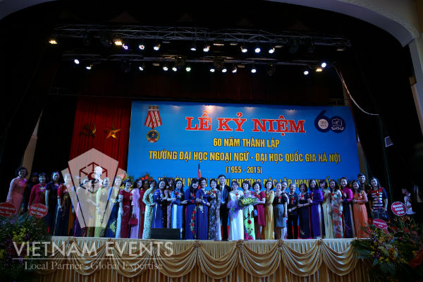 VietnamEvents organized successfully the 60th anniversary of the University of Languages and International Studies (1955-2015)